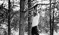 Hanging from a tree (October 1955)