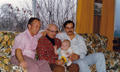 The Guys: Ray, Grandpa Peters, baby Michael, Uncle Leonard